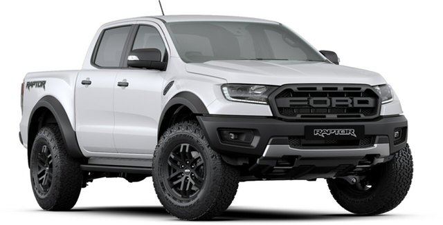 New Ford Ranger PX MkIII 2019.75MY Raptor Pick-up Double Cab, 2019 Ford Ranger PX MkIII 2019.75MY Raptor Pick-up Double Cab Arctic White 10 Speed Sports Automatic