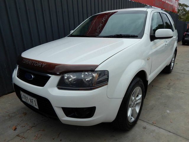 Used Ford Territory SY MkII TX, 2009 Ford Territory SY MkII TX White 4 Speed Sports Automatic Wagon