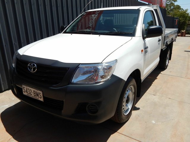 Used Toyota Hilux TGN16R MY12 Workmate 4x2, 2011 Toyota Hilux TGN16R MY12 Workmate 4x2 White 5 Speed Manual Cab Chassis