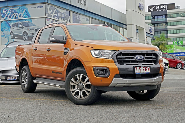 Demo Ford Ranger PX MkIII 2019.75MY Wildtrak Pick-up Double Cab, 2019 Ford Ranger PX MkIII 2019.75MY Wildtrak Pick-up Double Cab Saber 6 Speed Sports Automatic