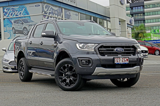 Demo Ford Ranger PX MkIII 2019.75MY Wildtrak Pick-up Double Cab, 2019 Ford Ranger PX MkIII 2019.75MY Wildtrak Pick-up Double Cab Grey 6 Speed Sports Automatic