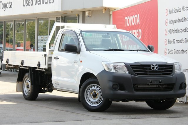 Used Toyota Hilux TGN16R MY14 Workmate 4x2, 2014 Toyota Hilux TGN16R MY14 Workmate 4x2 Glacier White 4 Speed Automatic Cab Chassis
