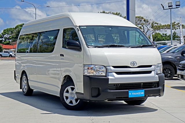 Used Toyota HiAce KDH223R Commuter High Roof Super LWB, 2018 Toyota HiAce KDH223R Commuter High Roof Super LWB White 4 Speed Automatic Bus