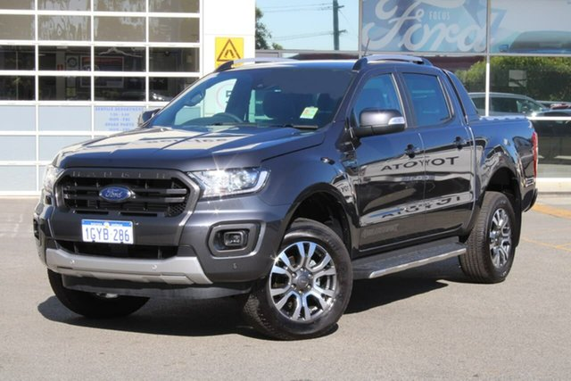 Demo Ford Ranger PX MkIII 2019.75MY Wildtrak Pick-up Double Cab, 2019 Ford Ranger PX MkIII 2019.75MY Wildtrak Pick-up Double Cab Grey 10 Speed Sports Automatic