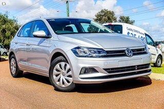 2019 Volkswagen Polo AW MY20 70TSI DSG Trendline Silver 7 Speed Sports Automatic Dual Clutch.