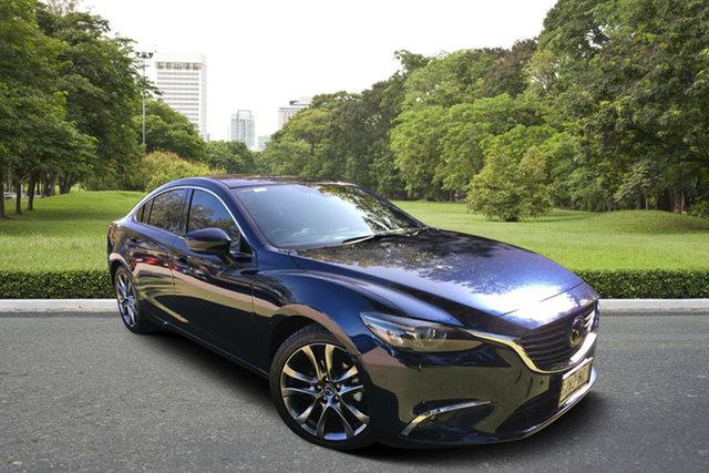 Used Mazda 6 GL1021 Atenza SKYACTIV-Drive, 2017 Mazda 6 GL1021 Atenza SKYACTIV-Drive Blue 6 Speed Sports Automatic Sedan