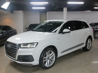 2016 Audi Q7 4M MY16 TDI Tiptronic Quattro White 8 Speed Sports Automatic Wagon.