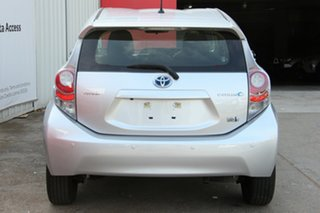 2014 Toyota Prius c NHP10R E-CVT Silver Pearl 1 Speed Constant Variable Hatchback Hybrid