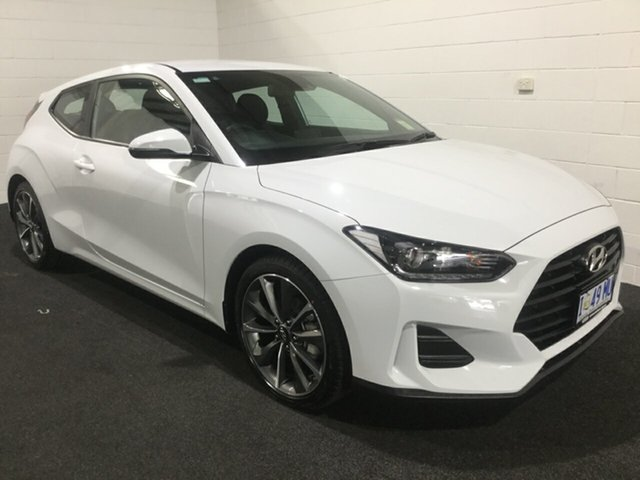 Used Hyundai Veloster JS MY20 Coupe, 2019 Hyundai Veloster JS MY20 Coupe White 6 Speed Automatic Hatchback