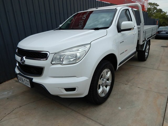 Used Holden Colorado RG MY14 LX, 2014 Holden Colorado RG MY14 LX White 6 Speed Manual Cab Chassis