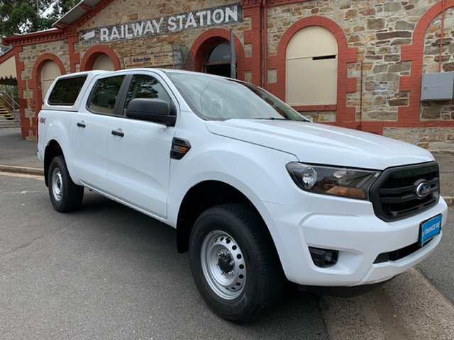 Used Ford Ranger PX MkII 2018.00MY XL Double Cab, 2018 Ford Ranger PX MkII 2018.00MY XL Double Cab Frozen White 6 Speed Sports Automatic Cab Chassis