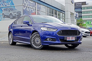 2016 Ford Mondeo MD Titanium PwrShift Blue 6 Speed Sports Automatic Dual Clutch Hatchback.