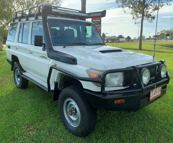 Used Toyota Landcruiser VDJ76R Workmate, 2009 Toyota Landcruiser VDJ76R Workmate White 5 Speed Manual Wagon