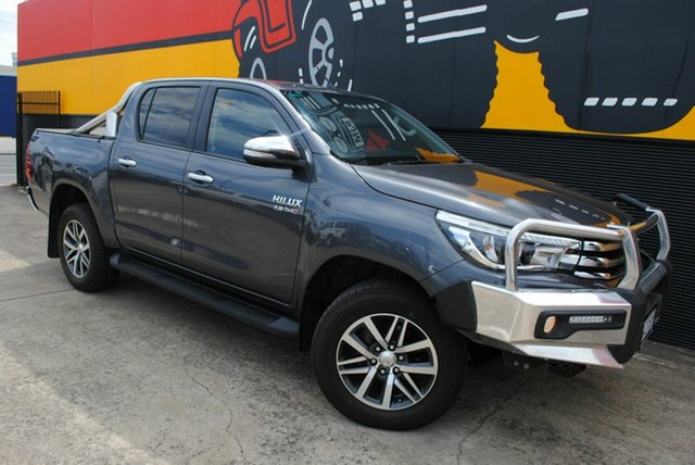 Used Toyota Hilux GUN126R SR5 Double Cab, 2017 Toyota Hilux GUN126R SR5 Double Cab Graphite Grey 6 Speed Sports Automatic Utility