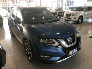 2019 Nissan X-Trail T32 Series II Ti X-tronic 4WD Marine Blue 7 Speed Constant Variable Wagon.
