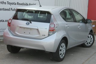 2014 Toyota Prius c NHP10R E-CVT Silver Pearl 1 Speed Constant Variable Hatchback Hybrid.
