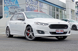 2015 Ford Falcon FG X XR8 White 6 Speed Manual Sedan.