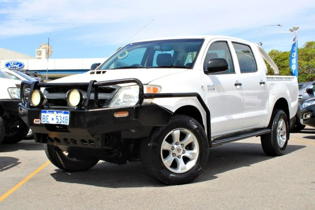 Used Toyota Hilux KUN26R MY09 SR, 2008 Toyota Hilux KUN26R MY09 SR White 5 Speed Manual Cab Chassis