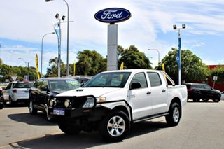 2008 Toyota Hilux KUN26R MY09 SR White 5 Speed Manual Cab Chassis.