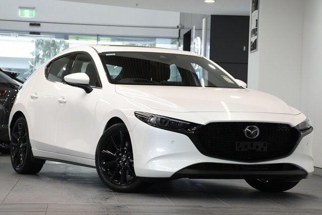 New Mazda 3 BP2HLA G25 SKYACTIV-Drive Astina, 2019 Mazda 3 BP2HLA G25 SKYACTIV-Drive Astina Snowflake White 6 Speed Sports Automatic Hatchback