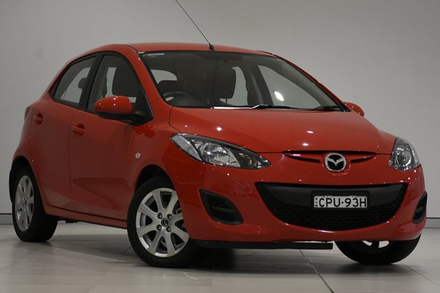 Used Mazda 2 DE10Y2 MY13 Neo, 2013 Mazda 2 DE10Y2 MY13 Neo Red 4 Speed Automatic Hatchback