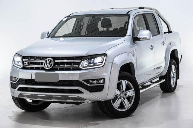 Demo Volkswagen Amarok 2H MY19 TDI550 4MOTION Perm Highline, 2019 Volkswagen Amarok 2H MY19 TDI550 4MOTION Perm Highline Silver 8 Speed Automatic Utility