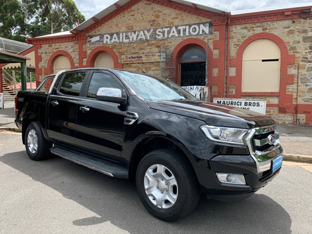 Used Ford Ranger PX MkII 2018.00MY XLT Super Cab, 2017 Ford Ranger PX MkII 2018.00MY XLT Super Cab Shadow Black 6 Speed Sports Automatic Utility