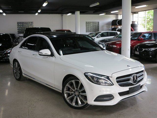 Used Mercedes-Benz C-Class W205 C250 BlueTEC 7G-Tronic +, 2015 Mercedes-Benz C-Class W205 C250 BlueTEC 7G-Tronic + White 7 Speed Sports Automatic Sedan
