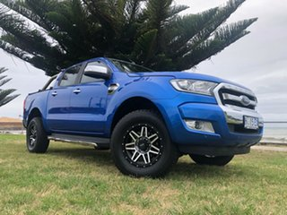 2017 Ford Ranger PX MkII XLT Double Cab Blue 6 Speed Manual Utility.