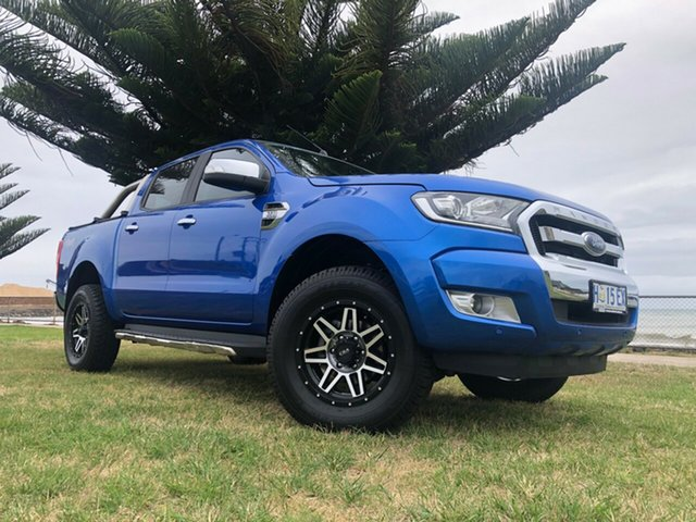 Used Ford Ranger PX MkII XLT Double Cab, 2017 Ford Ranger PX MkII XLT Double Cab Blue 6 Speed Manual Utility