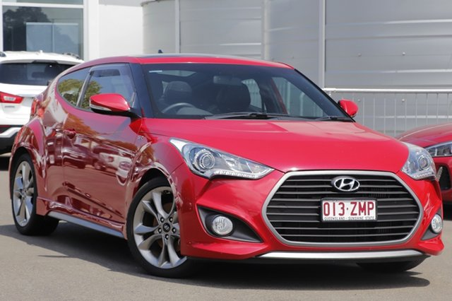 Used Hyundai Veloster FS4 Series II SR Coupe D-CT Turbo +, 2015 Hyundai Veloster FS4 Series II SR Coupe D-CT Turbo + Veloster Red 7 Speed