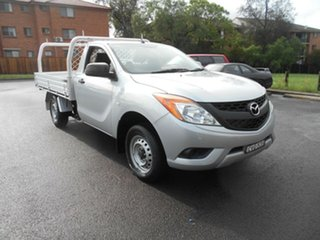 2014 Mazda BT-50 MY13 XT (4x2) Silver 6 Speed Manual Cab Chassis.