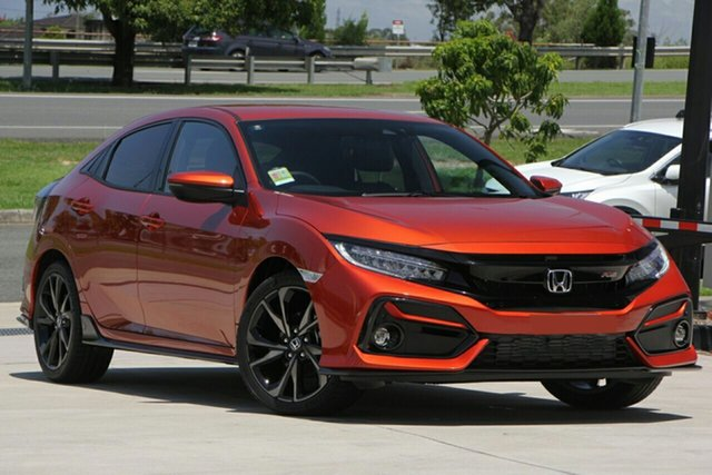New Honda Civic 10th Gen MY20 RS, 2019 Honda Civic 10th Gen MY20 RS Phoenix Orange 1 Speed Constant Variable Hatchback