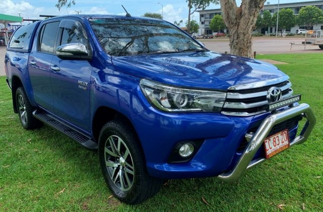 Used Toyota Hilux GUN126R SR5 Double Cab, 2015 Toyota Hilux GUN126R SR5 Double Cab Blue 6 Speed Sports Automatic Utility