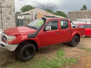 2008 Nissan Navara stx Red Manual Dual Cab.
