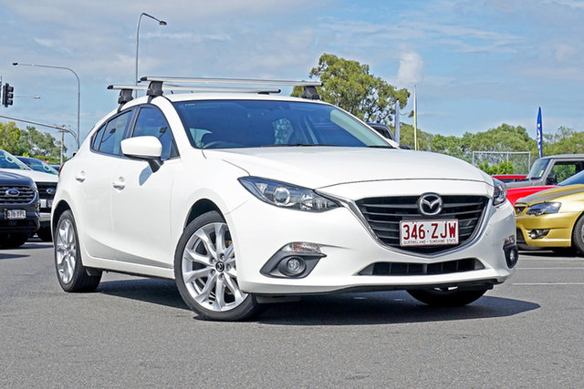 Used Mazda 3 BM5438 SP25 SKYACTIV-Drive, 2015 Mazda 3 BM5438 SP25 SKYACTIV-Drive White 6 Speed Sports Automatic Hatchback
