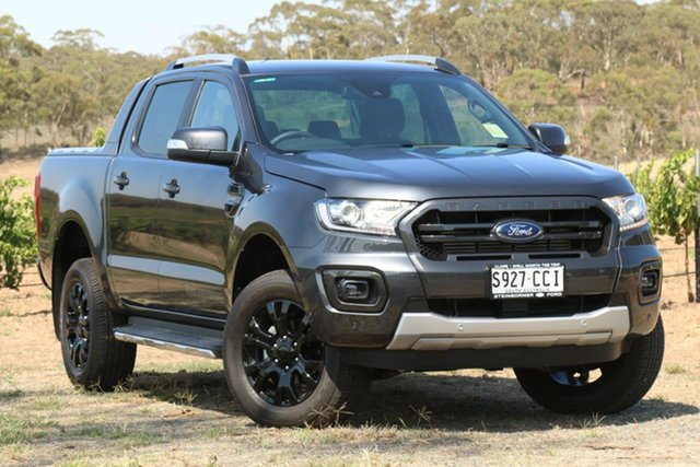 Demo Ford Ranger  Wildtrak Pick-up Double Cab, 2019 Ford Ranger PX MKIII 2019.7 Wildtrak Pick-up Double Cab Meteor Grey 10 Speed Automatic Utility