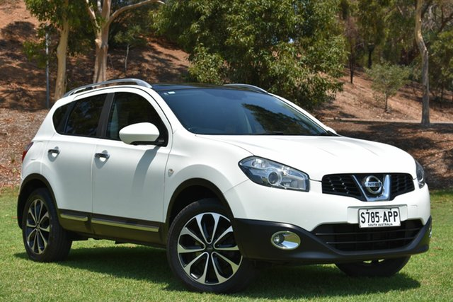 Used Nissan Dualis J10 Series II MY2010 Ti Hatch X-tronic, 2012 Nissan Dualis J10 Series II MY2010 Ti Hatch X-tronic White 6 Speed Constant Variable Hatchback
