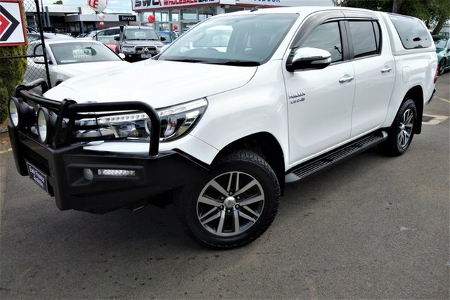 Used Toyota Hilux GUN126R SR5 Double Cab, 2016 Toyota Hilux GUN126R SR5 Double Cab White 6 Speed Sports Automatic Utility