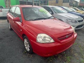 2004 Kia Rio BC Red 5 Speed Manual Hatchback.