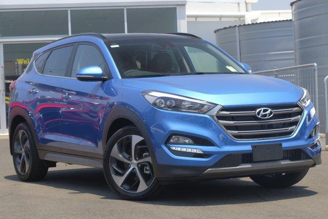 Used Hyundai Tucson TLE2 MY18 Highlander AWD, 2018 Hyundai Tucson TLE2 MY18 Highlander AWD Blue 6 Speed Sports Automatic Wagon