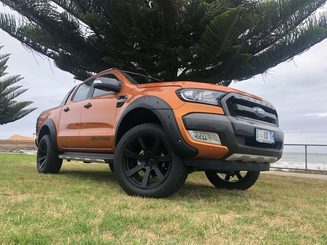 Used Ford Ranger PX MkII Wildtrak Double Cab, 2017 Ford Ranger PX MkII Wildtrak Double Cab Orange 6 Speed Manual Utility