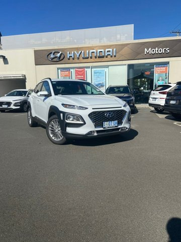 Demo Hyundai Kona OS.3 MY20 Elite D-CT AWD, 2019 Hyundai Kona OS.3 MY20 Elite D-CT AWD Chalk White 7 Speed Sports Automatic Dual Clutch Wagon