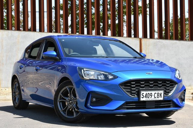 Demo Ford Focus SA 2019.75MY ST-Line, 2019 Ford Focus SA 2019.75MY ST-Line Desert Island Blue 8 Speed Automatic Wagon