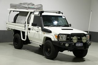 2014 Toyota Landcruiser VDJ79R MY12 Update GXL (4x4) White 5 Speed Manual Cab Chassis