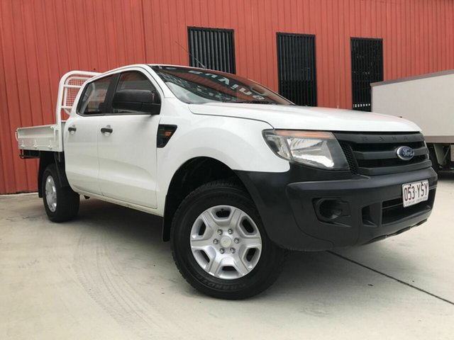 Used Ford Ranger PX XL Double Cab, 2012 Ford Ranger PX XL Double Cab White 6 Speed Manual Cab Chassis