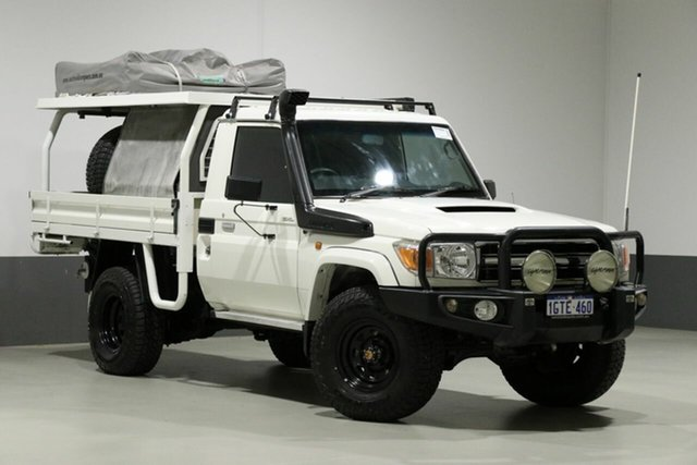 Used Toyota Landcruiser VDJ79R MY12 Update GXL (4x4), 2014 Toyota Landcruiser VDJ79R MY12 Update GXL (4x4) White 5 Speed Manual Cab Chassis