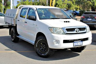 2010 Toyota Hilux KUN26R MY10 SR White 5 Speed Manual Cab Chassis