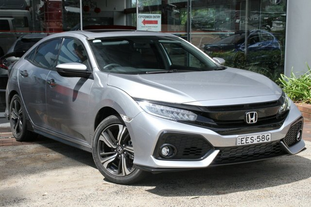 Demo Honda Civic 10th Gen MY19 RS, 2019 Honda Civic 10th Gen MY19 RS Lunar Silver 1 Speed Constant Variable Hatchback