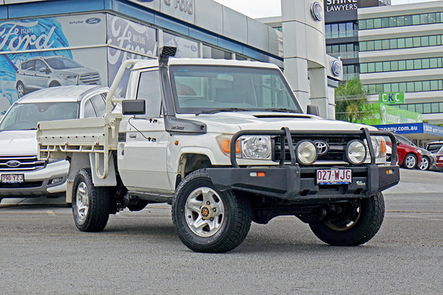 Used Toyota Landcruiser VDJ79R MY10 Workmate, 2012 Toyota Landcruiser VDJ79R MY10 Workmate White 5 Speed Manual Cab Chassis